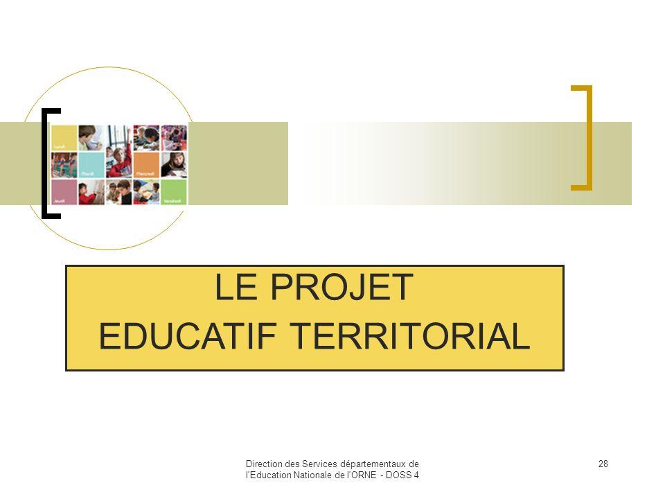 LE PROJET EDUCATIF TERRITORIAL 28