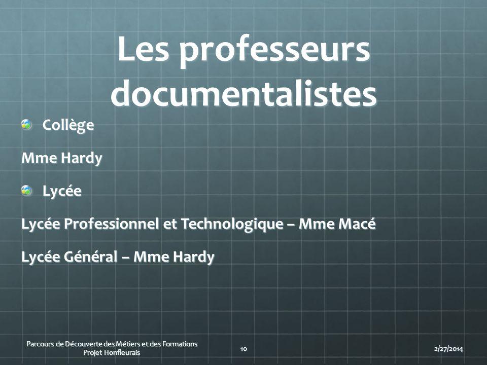 Les professeurs documentalistes