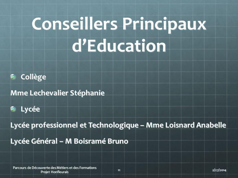 Conseillers Principaux d'Education