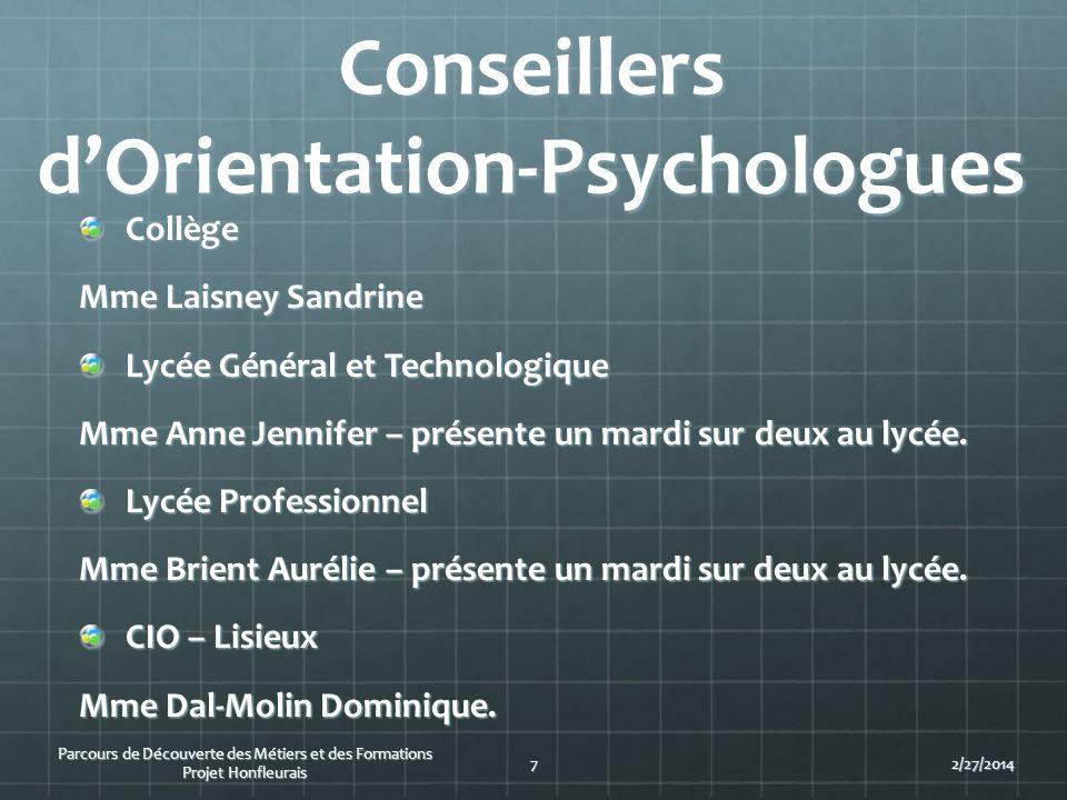 Conseillers d'Orientation-Psychologues