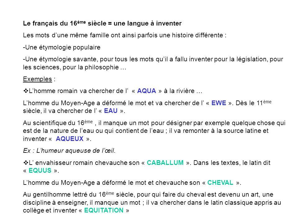 Le français du 16ème siècle = une langue à inventer