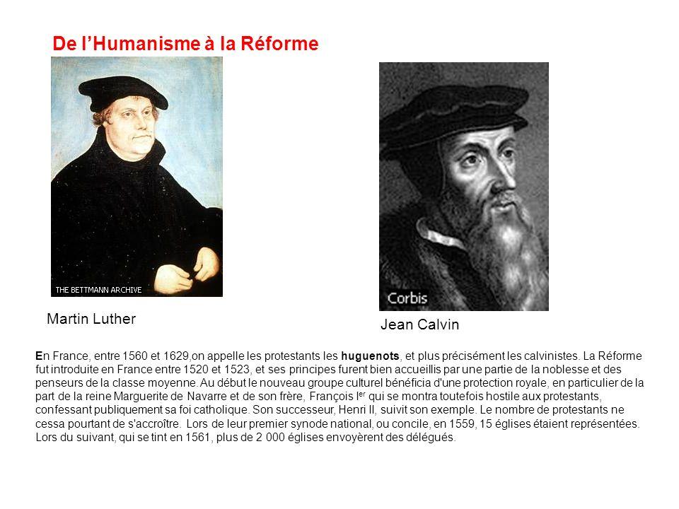 De l'Humanisme à la Réforme