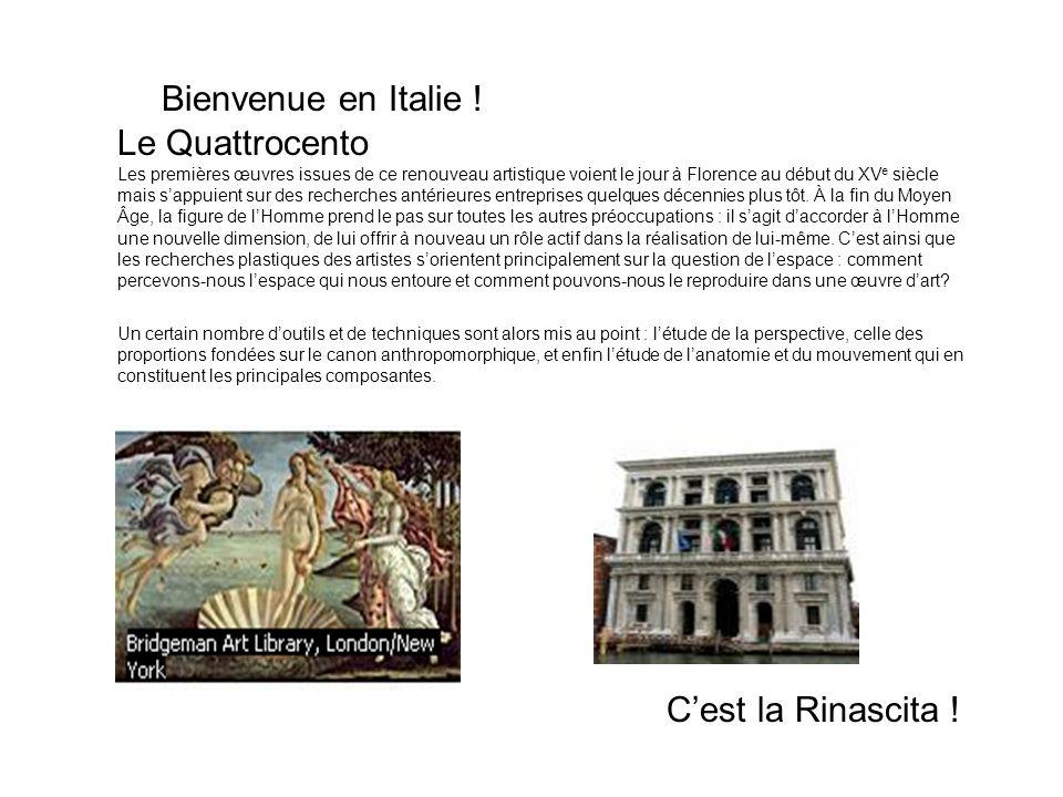 Bienvenue en Italie ! Le Quattrocento C'est la Rinascita !