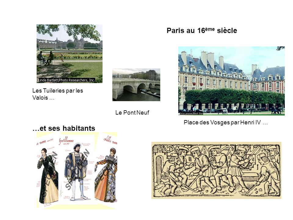 Paris au 16ème siècle …et ses habitants Les Tuileries par les Valois …