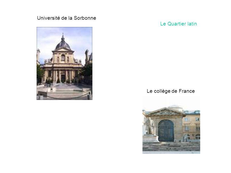 Université de la Sorbonne Le Quartier latin