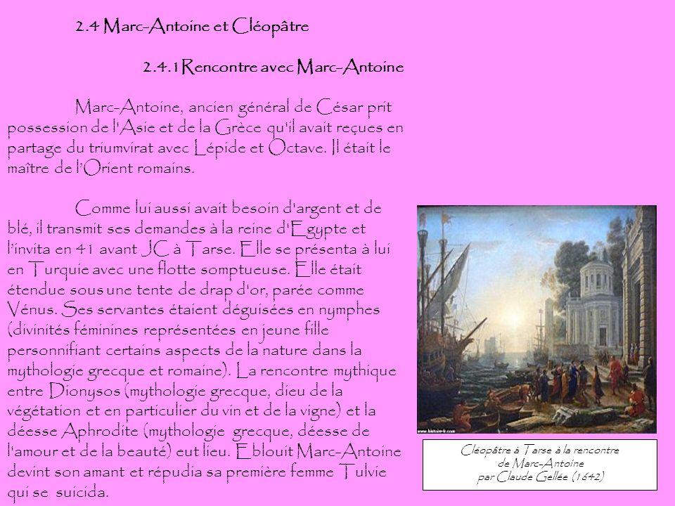 Cléopâtre à Tarse à la rencontre