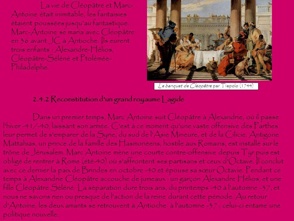 Le banquet de Cléopâtre par Tiepolo (1744)
