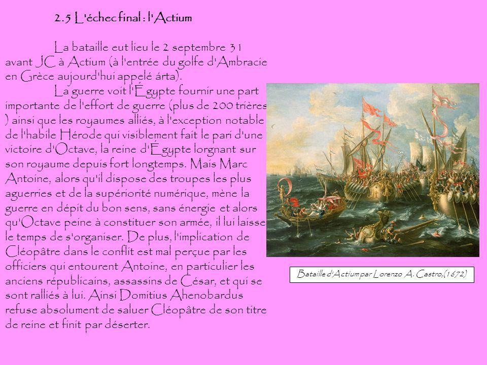 Bataille d Actium par Lorenzo A. Castro,(1672)