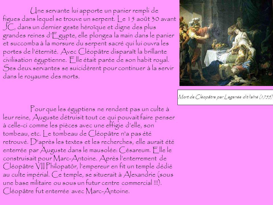 Mort de Cléopâtre par Lagenée dit l aîné (1755)