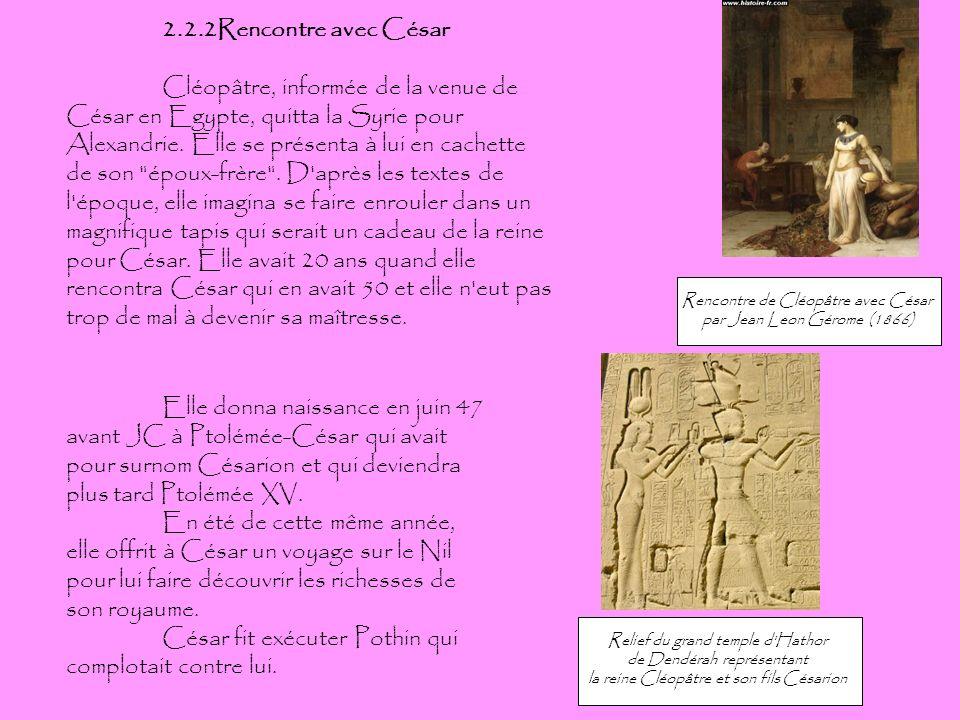 César fit exécuter Pothin qui complotait contre lui.