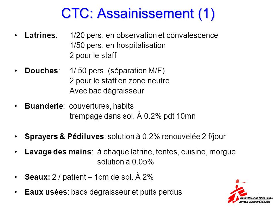 CTC: Assainissement (1)