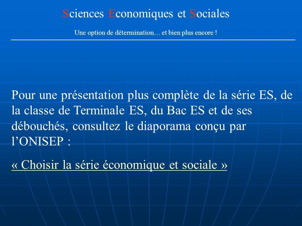 « Choisir la série économique et sociale »