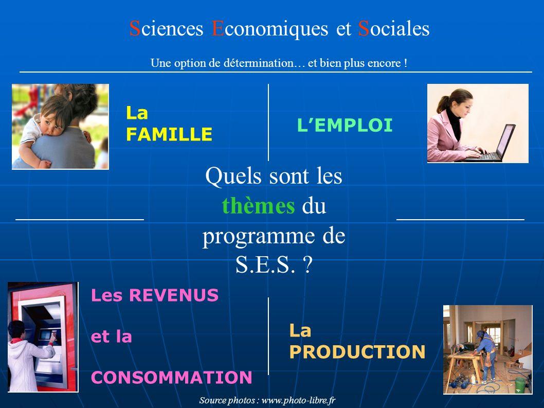 Quels sont les thèmes du programme de S.E.S.