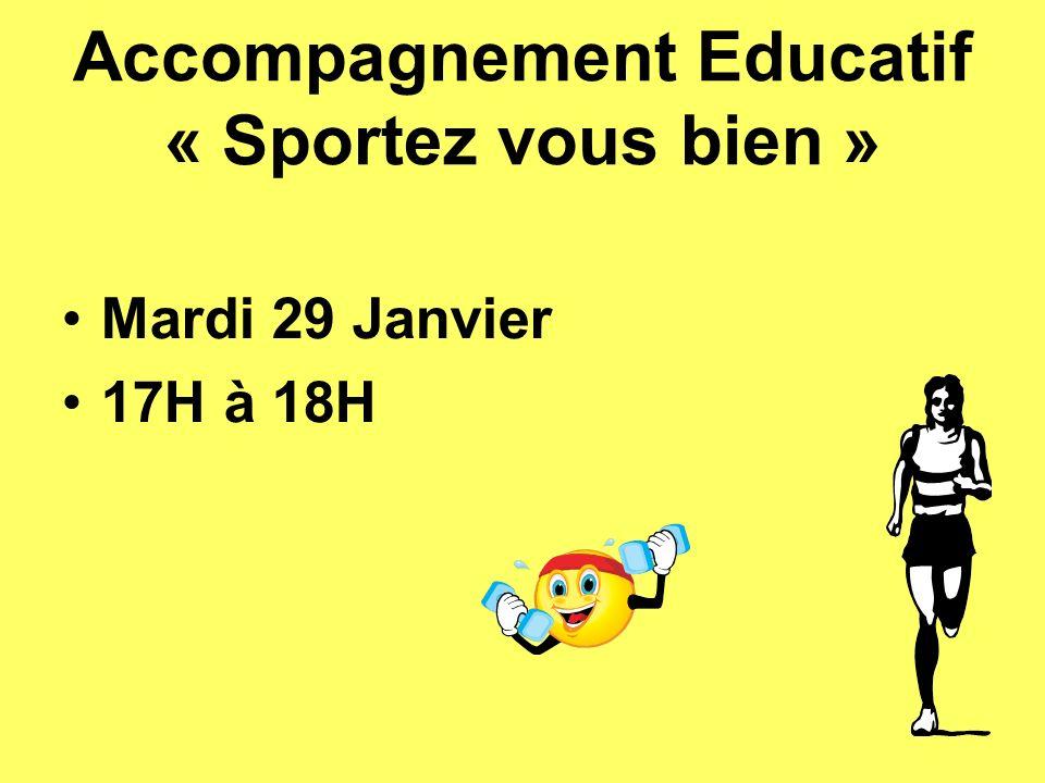 Accompagnement Educatif « Sportez vous bien »