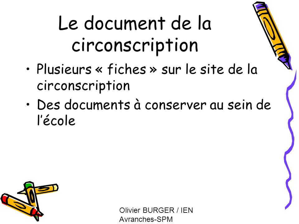 Le document de la circonscription