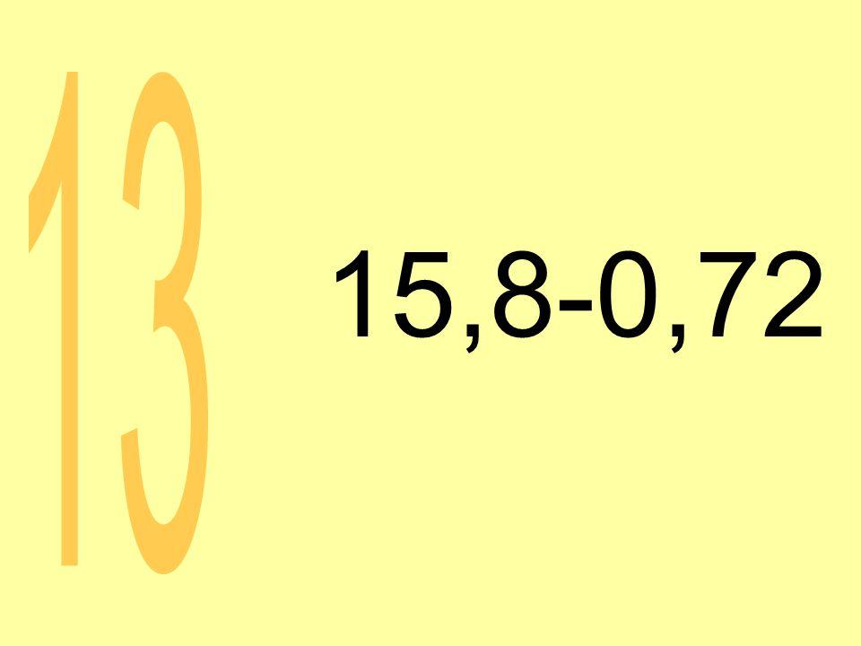 15,8-0,72 13