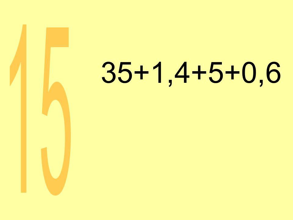 35+1,4+5+0,6 15