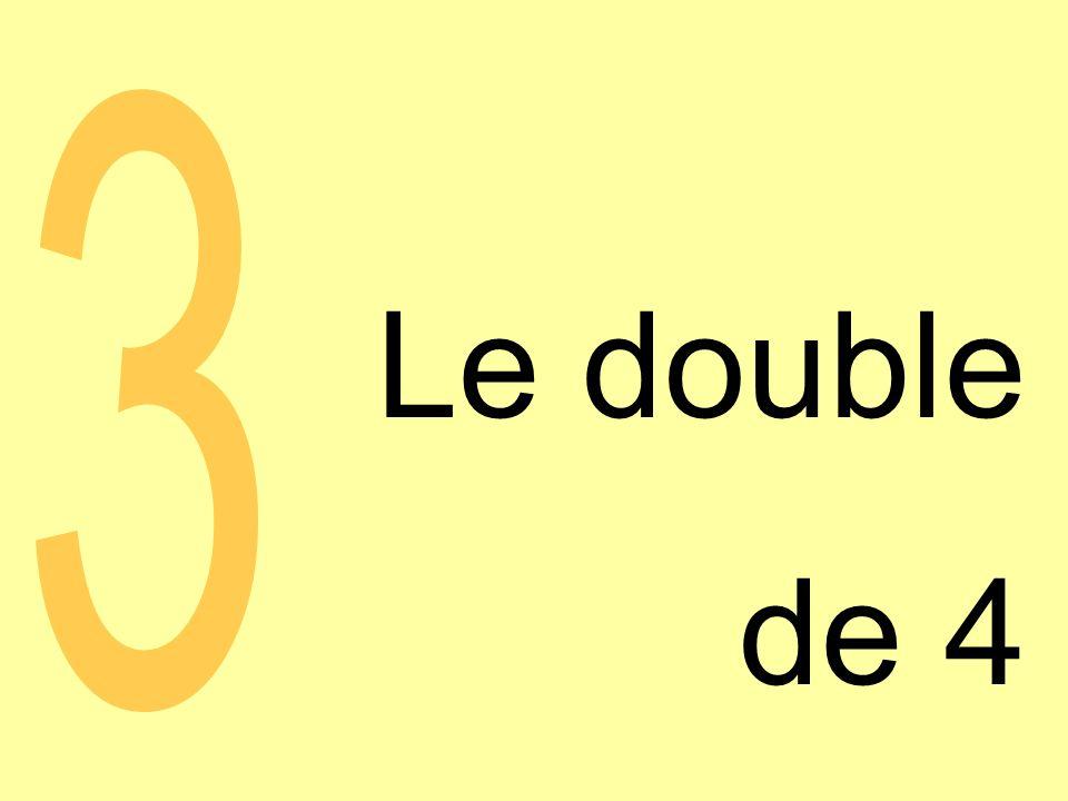 Le double de 4 3