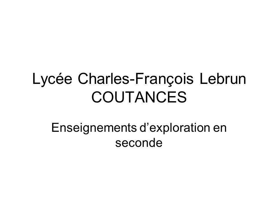 Lycée Charles-François Lebrun COUTANCES