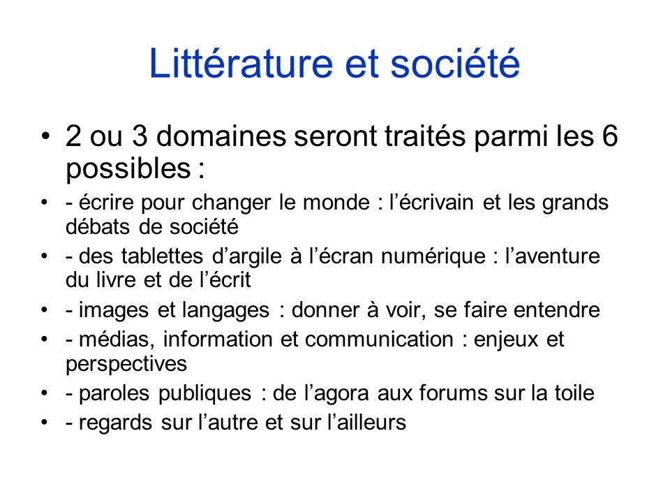 Littérature et société