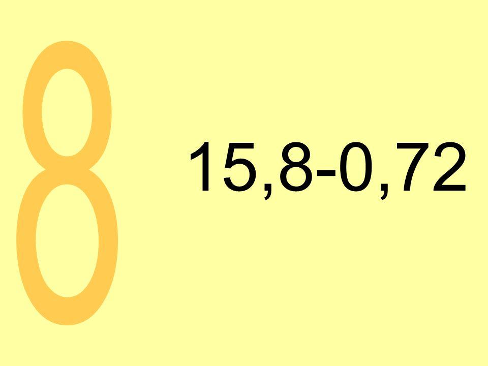 15,8-0,72 8