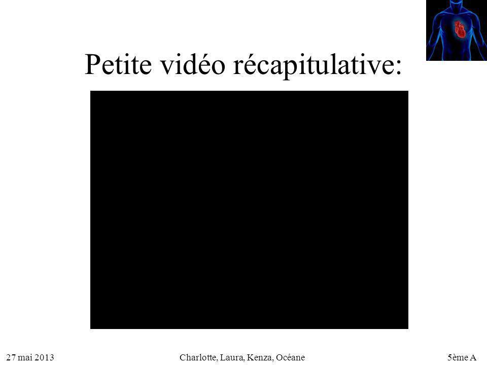 Petite vidéo récapitulative: