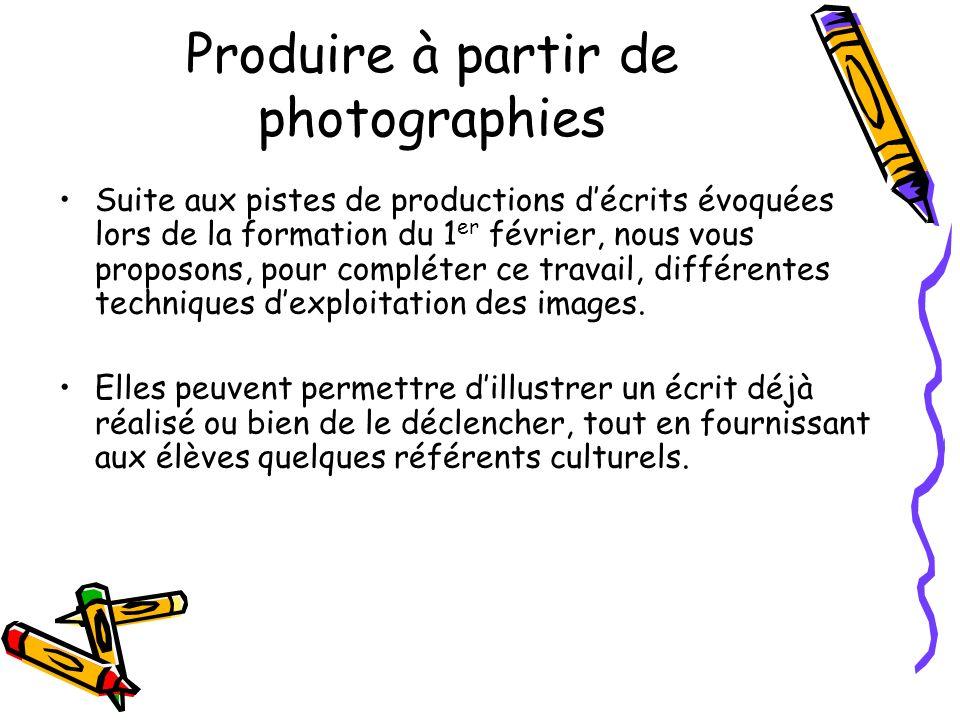 Produire à partir de photographies