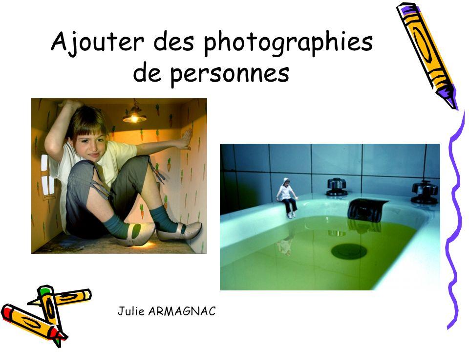 Ajouter des photographies de personnes