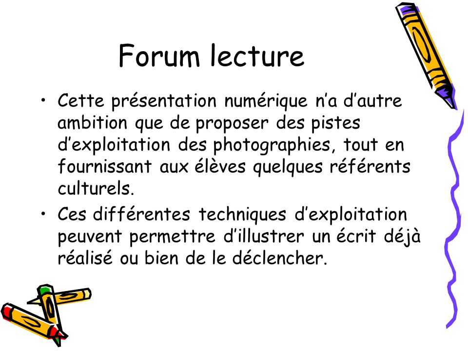 Forum lecture