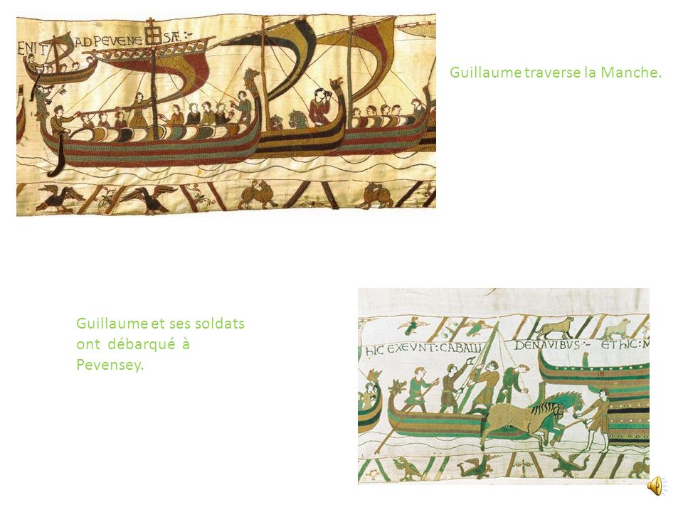 Guillaume traverse la Manche.