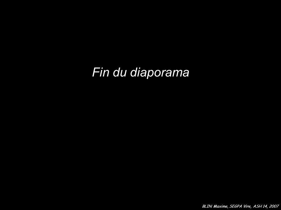 Fin du diaporama BLIN Maxime, SEGPA Vire, ASH 14, 2007