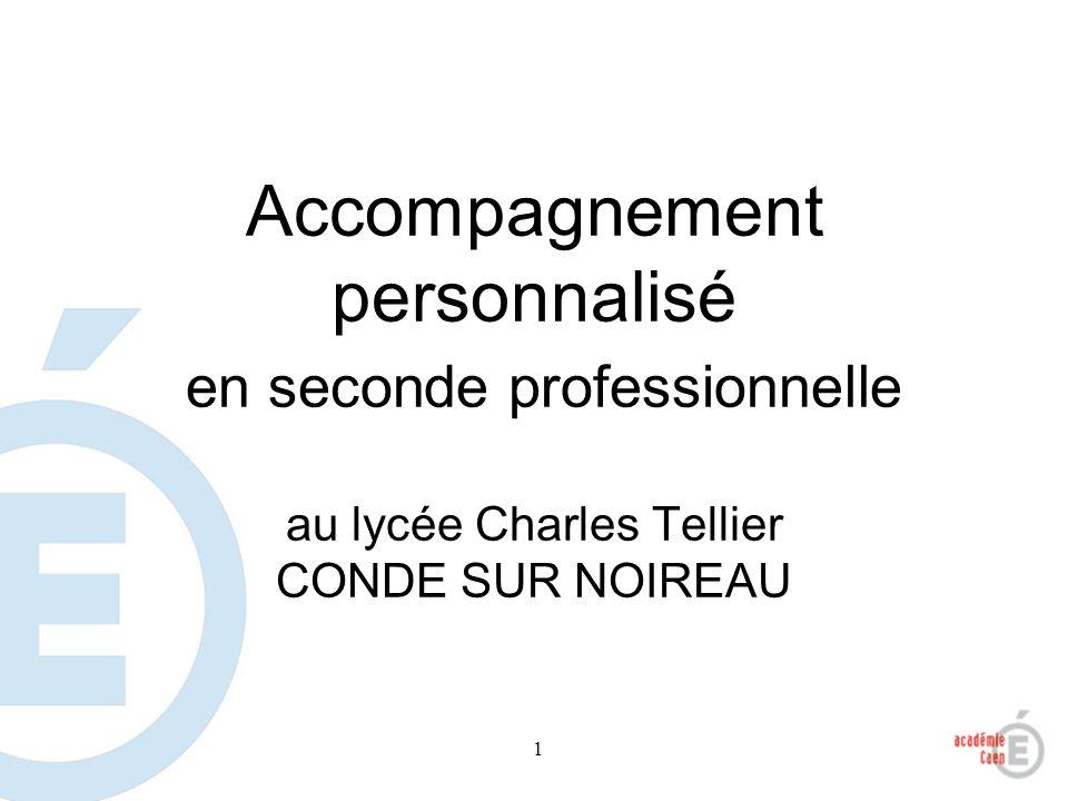Accompagnement personnalisé en seconde professionnelle au lycée Charles Tellier CONDE SUR NOIREAU
