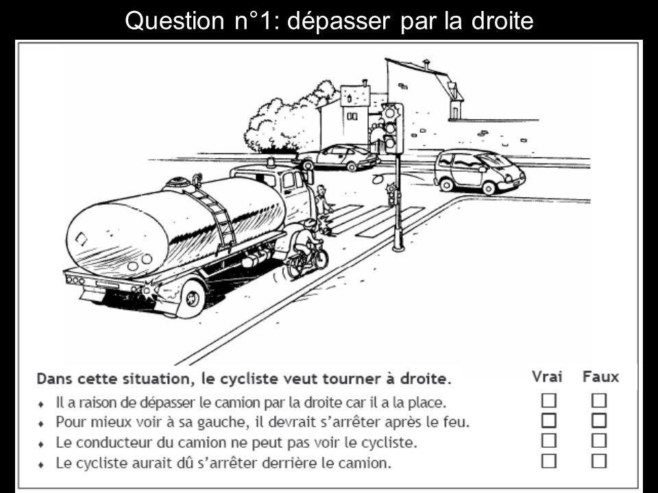 Question n°1: dépasser par la droite