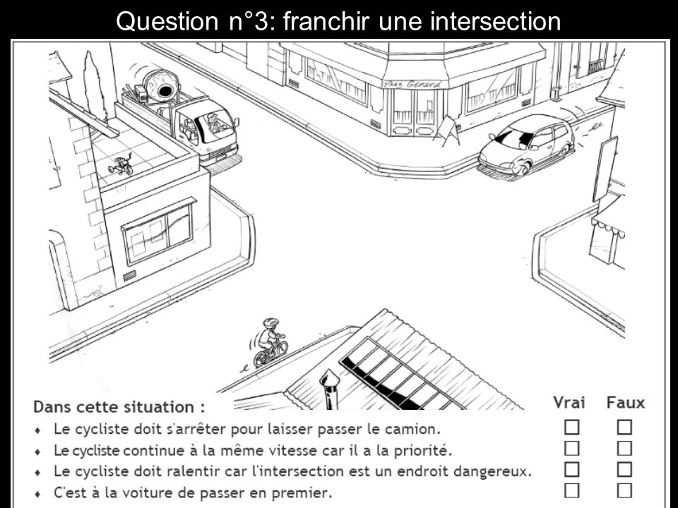 Question n°3: franchir une intersection