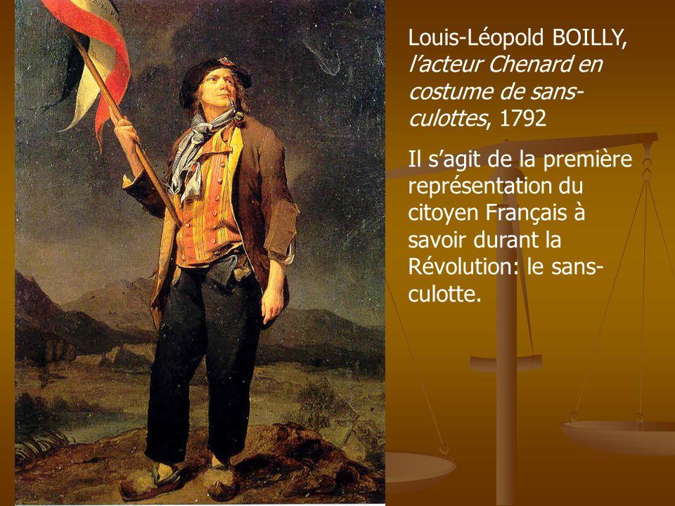 Louis-Léopold BOILLY, l'acteur Chenard en costume de sans-culottes, 1792