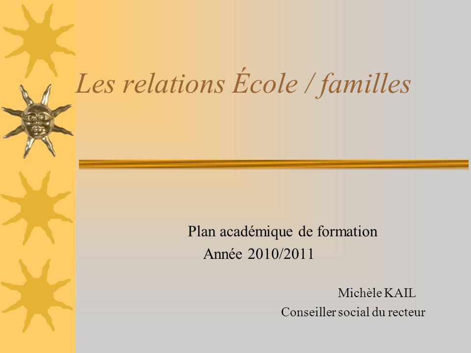 Les relations École / familles