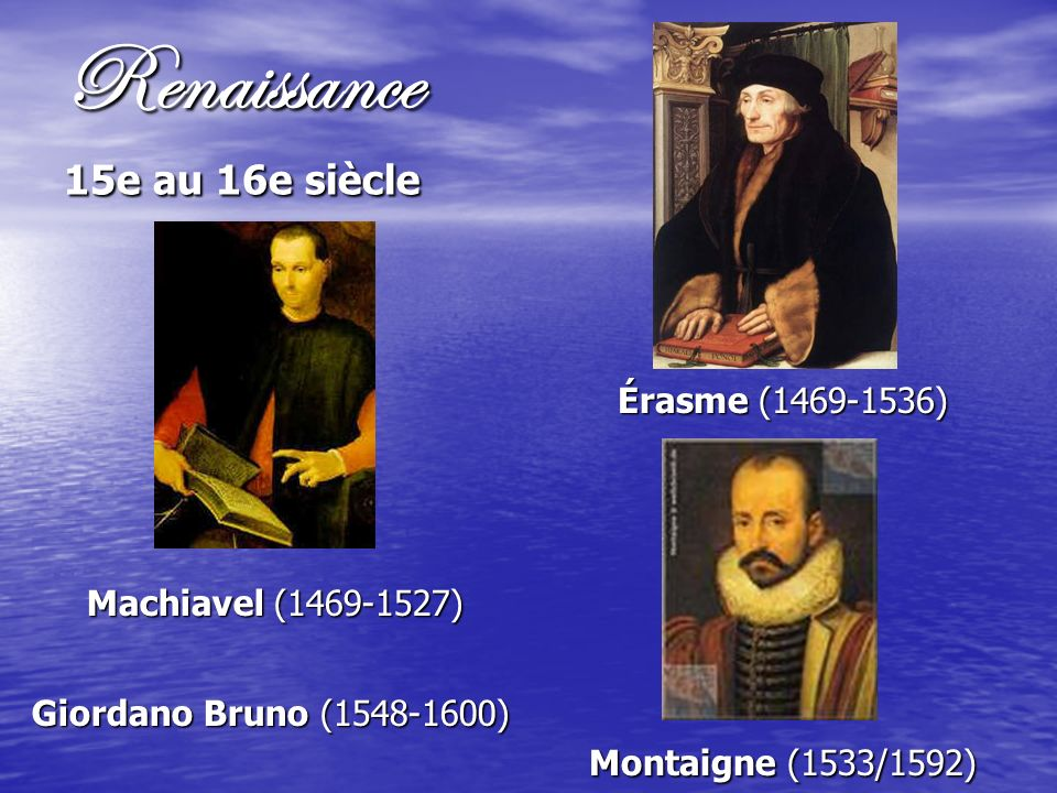 Renaissance 15e au 16e siècle
