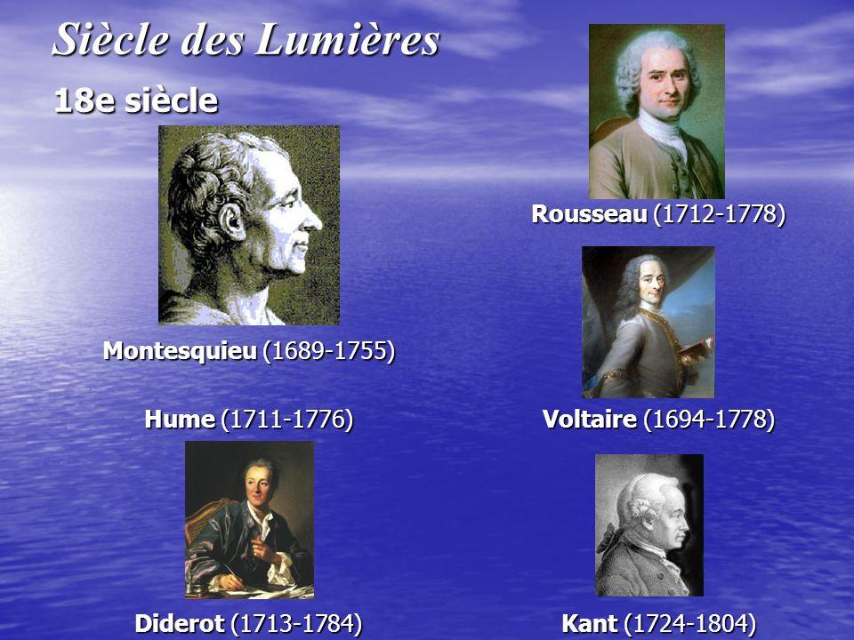 Siècle des Lumières 18e siècle