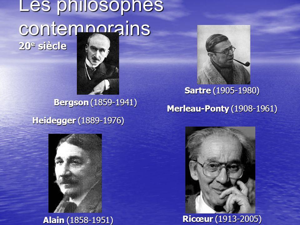 Les philosophes contemporains 20e siècle