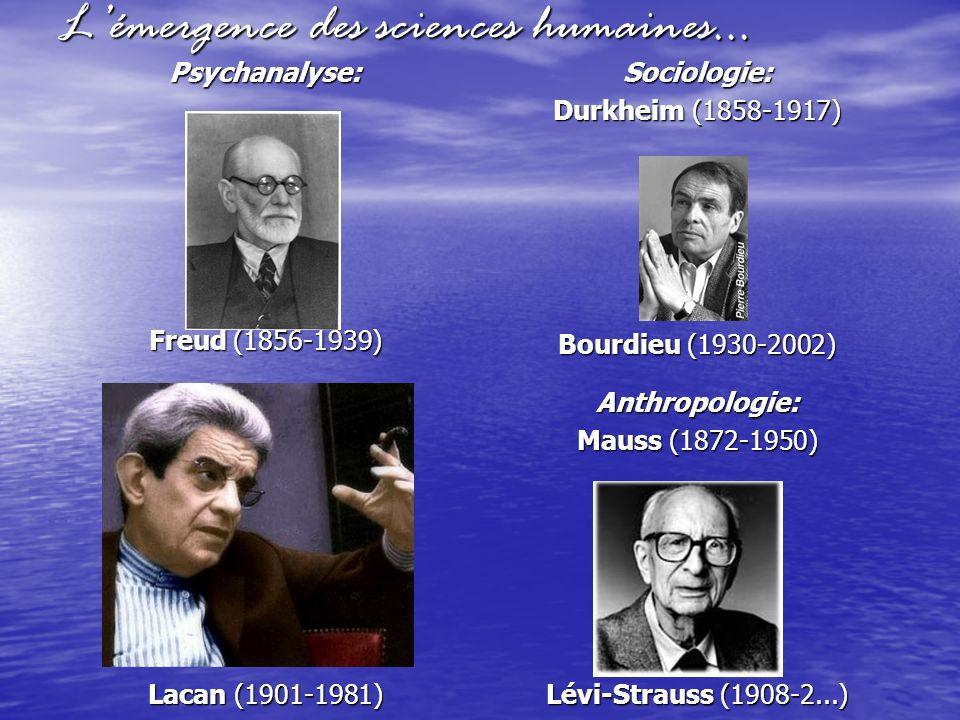 L'émergence des sciences humaines…