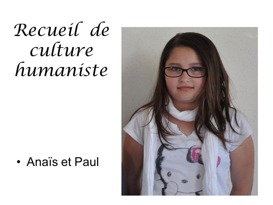 Recueil de culture humaniste