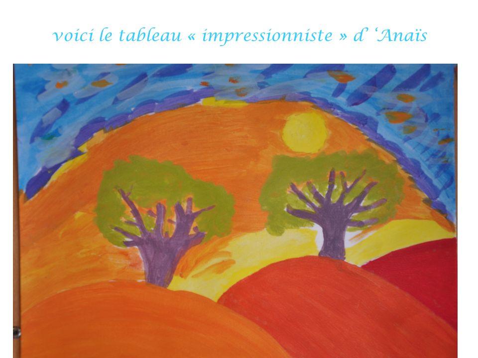 voici le tableau « impressionniste » d' 'Anaïs