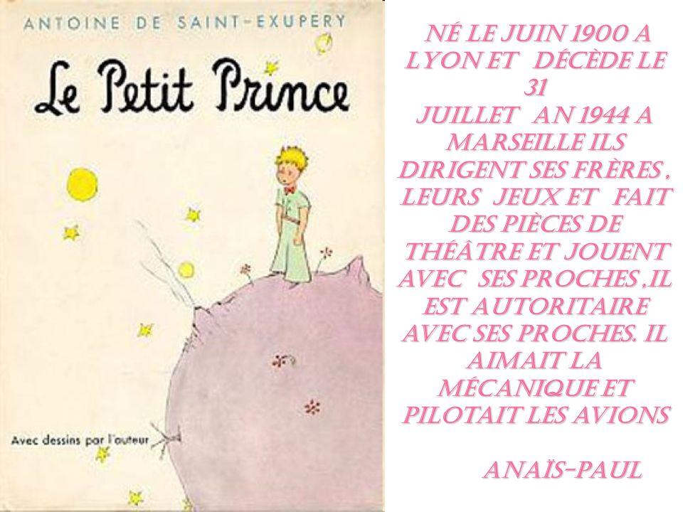 Né le juin 1900 a Lyon et Décède le 31