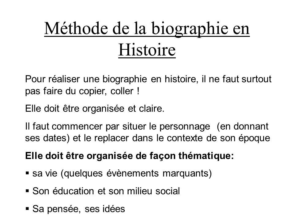 Méthode de la biographie en Histoire