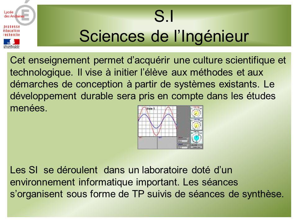 S.I Sciences de l'Ingénieur