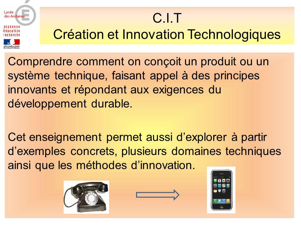 C.I.T Création et Innovation Technologiques
