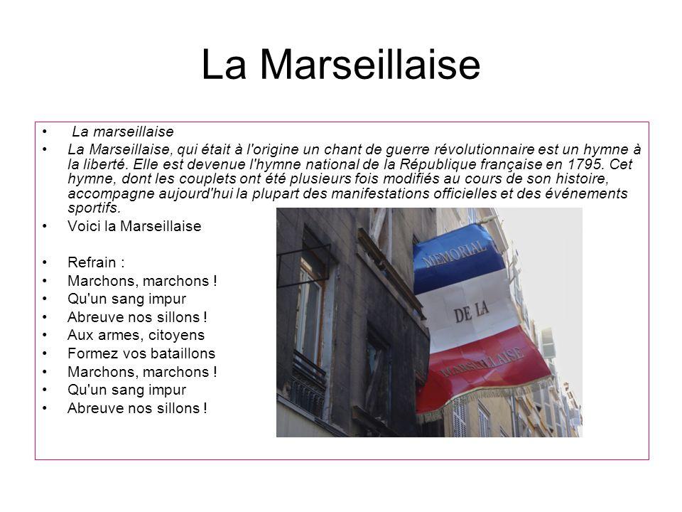 La Marseillaise La marseillaise