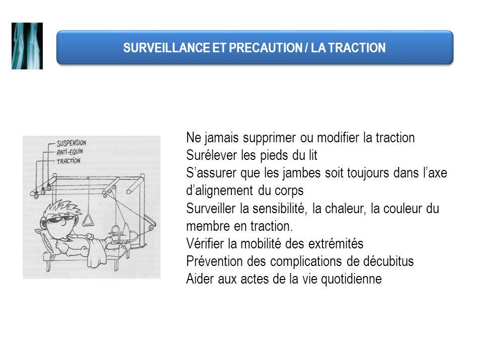 SURVEILLANCE ET PRECAUTION / LA TRACTION
