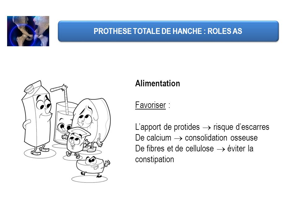 PROTHESE TOTALE DE HANCHE : ROLES AS