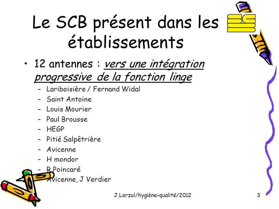 Le SCB présent dans les établissements